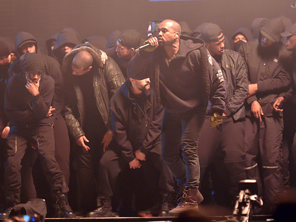 Kanye West performs at the BRIT Awards 2015 at The O2 Arena on February 25, 2015 in London, England. (Photo by Karwai Tang/WireImage)
