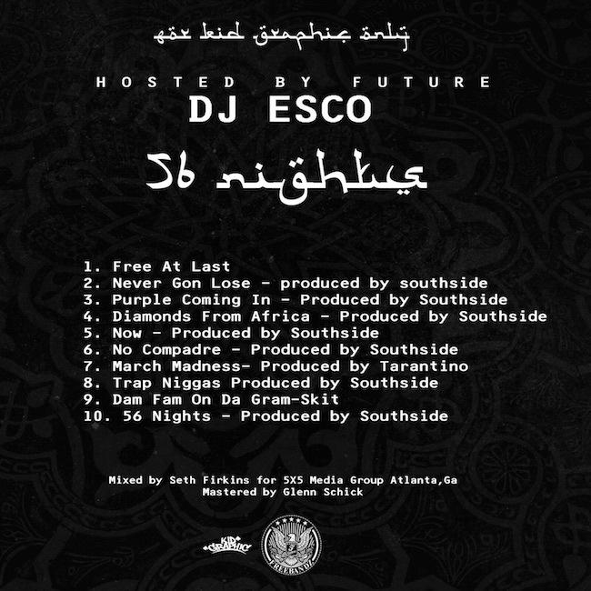 Future - 56 Nights (Back Cover)
