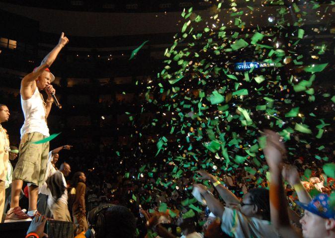 T.I. performing at Hot 107.9's Birthday Bash 13.