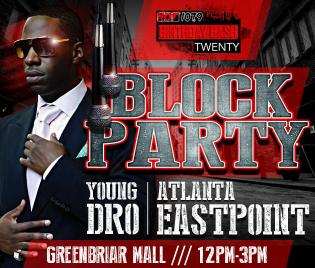 Young Dro Greenbriar Mall Hot 107.9 block party