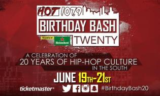 Hot 107.9 Birthday Bash 20 flyer