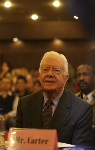 Former US President Jimmy Carter Lectures In Beijing