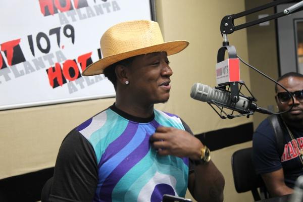 Yung Joc in Hot 107.9 Atlanta studio