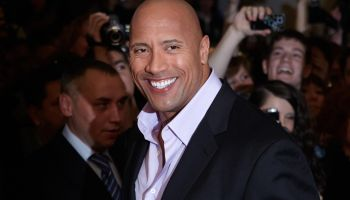 Dwayne Johnson (The Rock) poses for photographers during the premiere of the movie 'Fast and Furious 5'