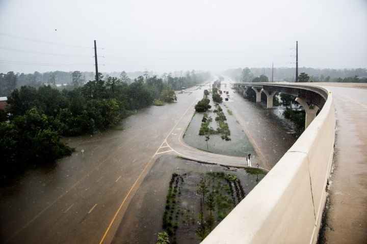Hurricane Harvey hits Texas
