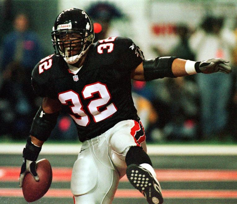 Running back Jamal Anderson of the Atlanta Falcons