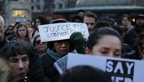 Vigil And Rally Held For Stephon Clark In NYC On 50th Anniversary Of MLK's Assassination