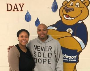 Reec with Principal Harris