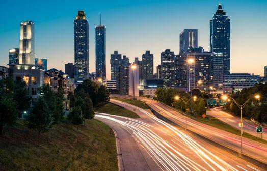 Atlanta downtown at night