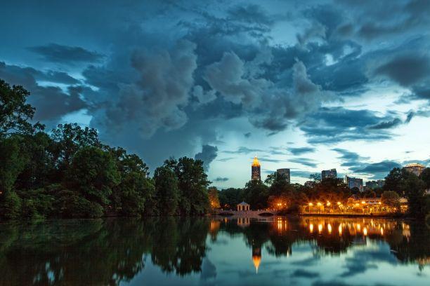 Dramatic Atlanta Skyline