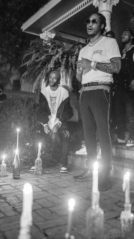6lack & Future on the Set Of East Atlanta Love Letter Music Video