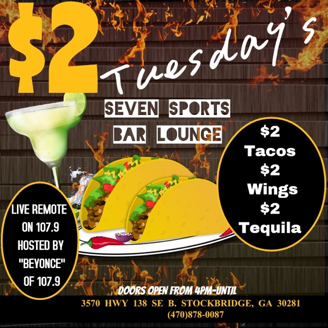 Live Broadcast: $2 Tuesdays With Beyonce At Seven Sports Bar Lounge