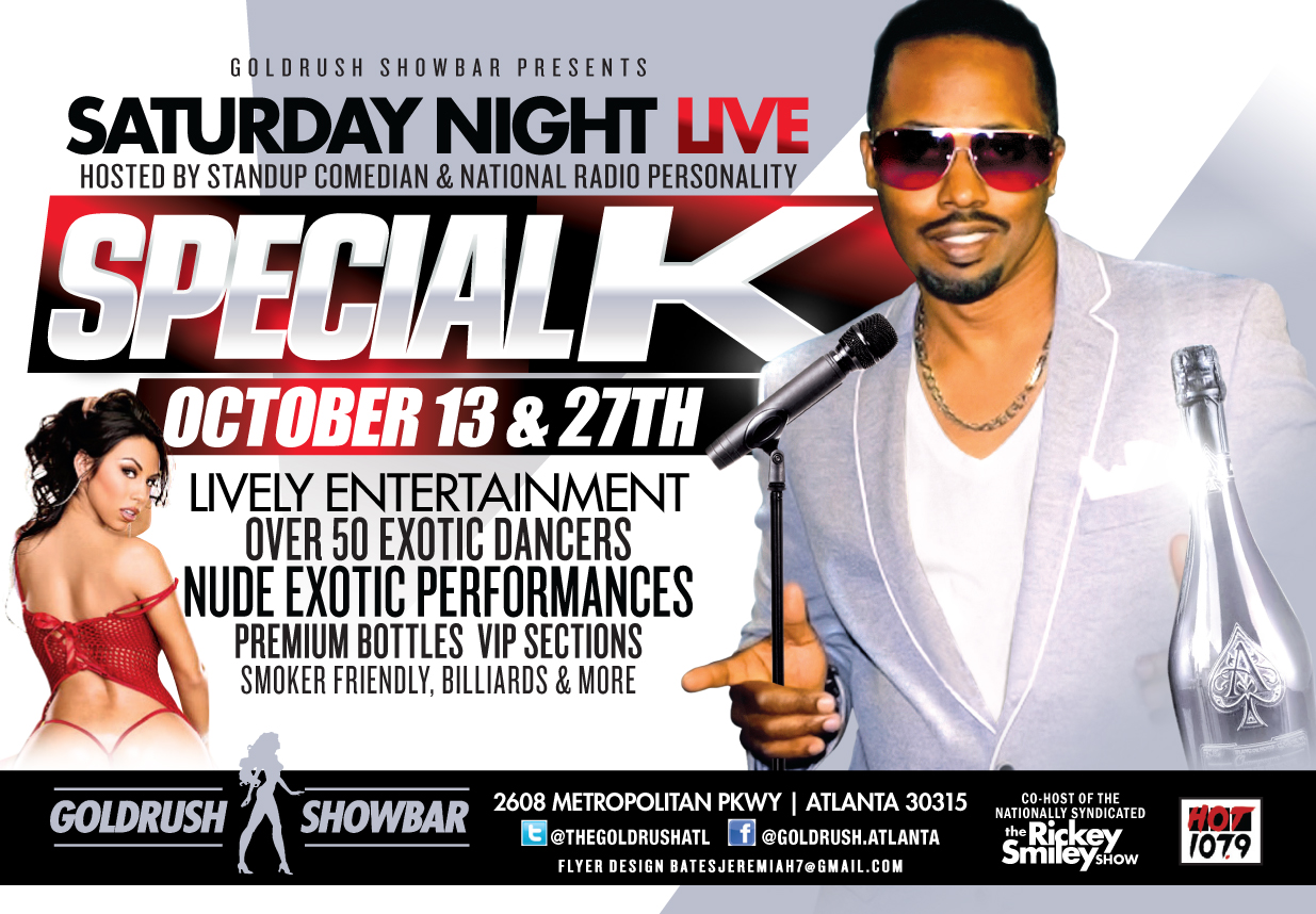 Goldrush Show Bar: Saturday Night All the Way Live With Special K