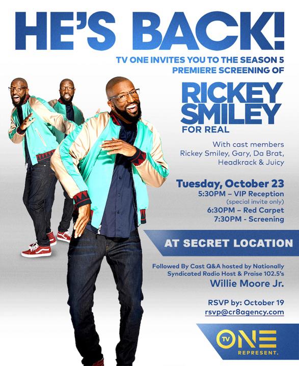 Rickey Smiley For Real Season 5 Premiere Screening
