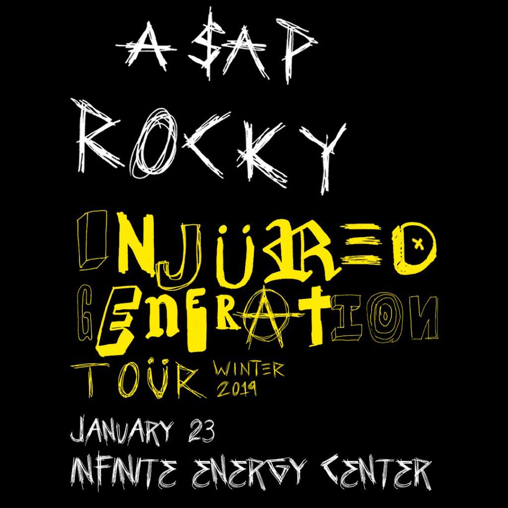 ASAP Rocky Injured Generation Tour Winter 2019