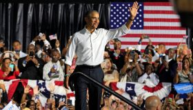 Former President Barack Obama campaigns in Florida