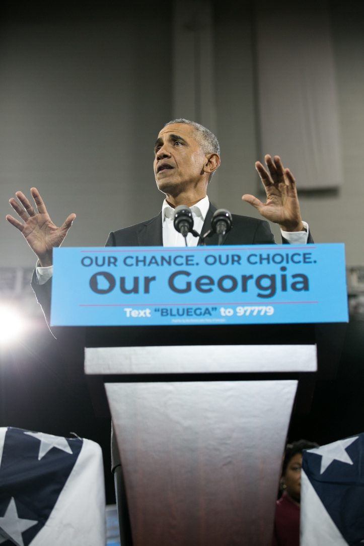President Obama Campaigns In Atlanta For Georgia Gubernatorial Candidate Stacy Abrams And Georgia Democrats On The Ballot