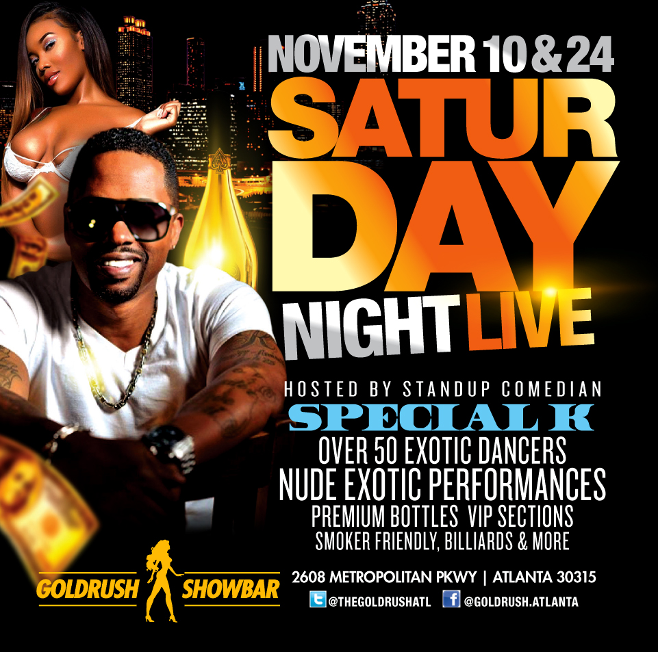 Goldrush Showbar: Saturday Night All The Way Live With Special K