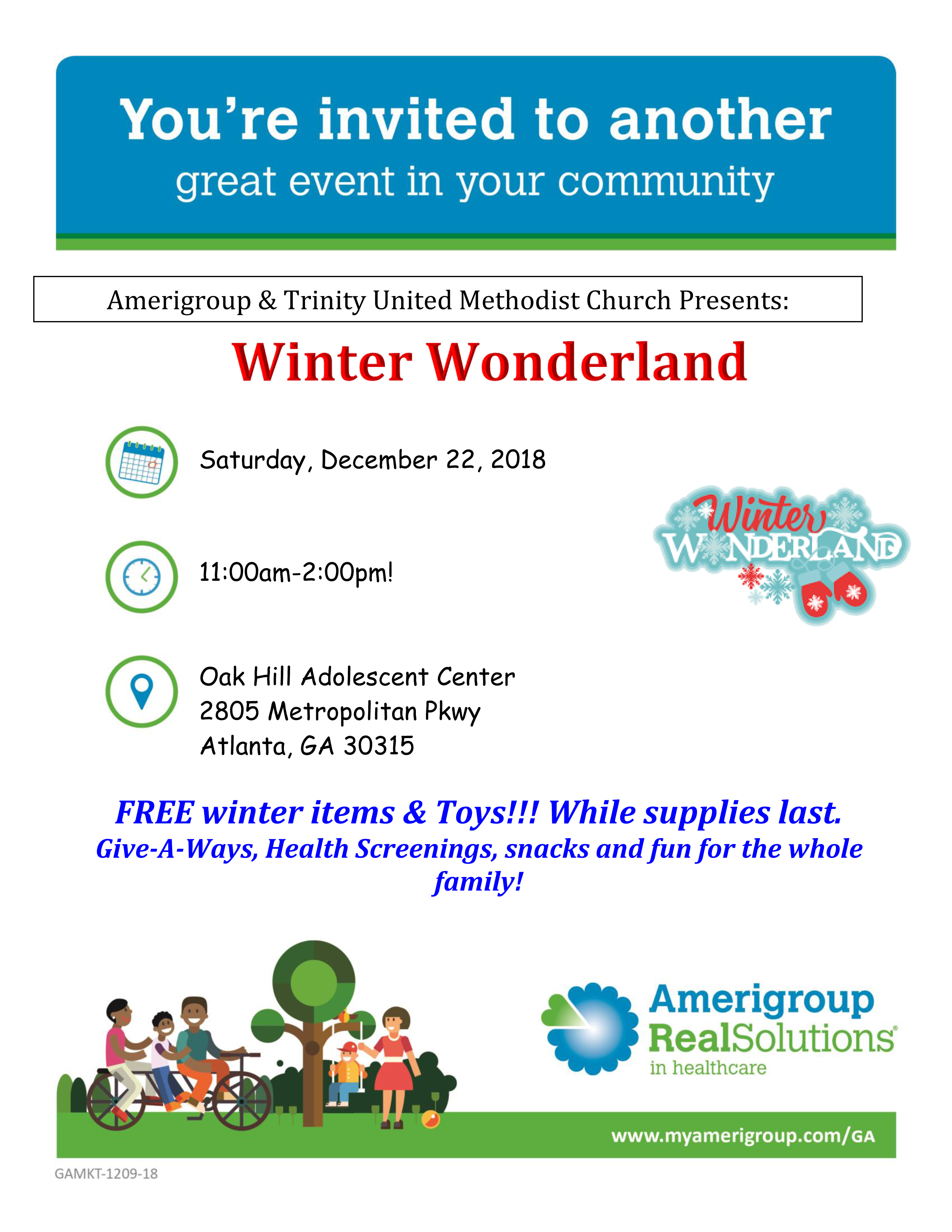 Amerigroup: Monthly Events