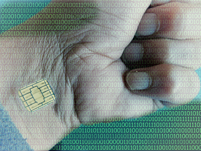 Identification chip and data implanted in humans.