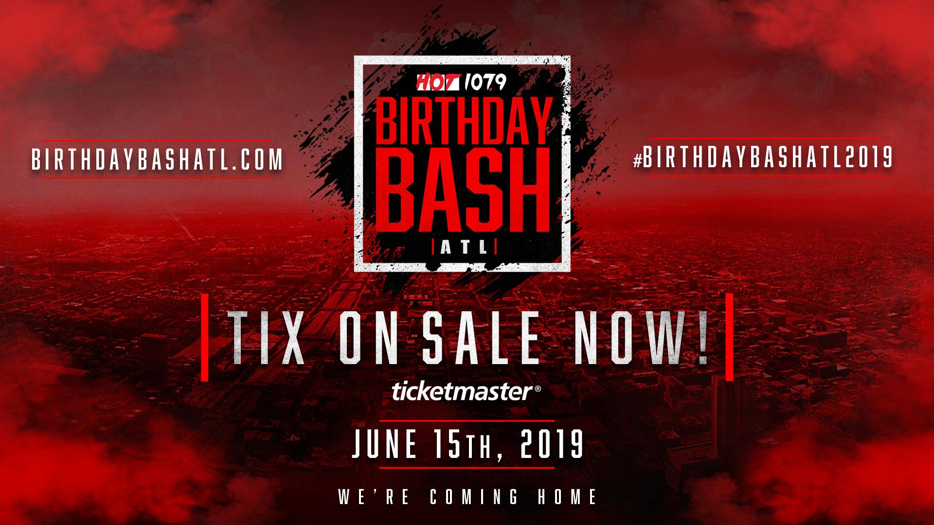 Birthday Bash ATL On Sale