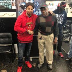 Reec (Hot 107.9) & Mr. Martin (Owner of Murdens Shop)