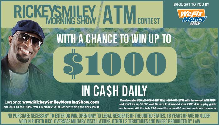 Rickey Smiley's ATM Contest