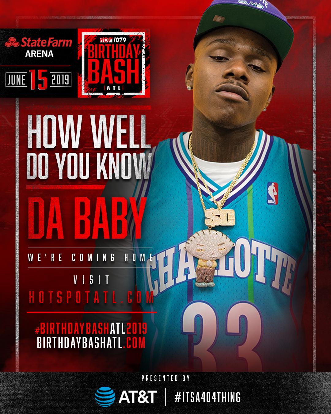 Birthday Bash Trivia: Da Baby