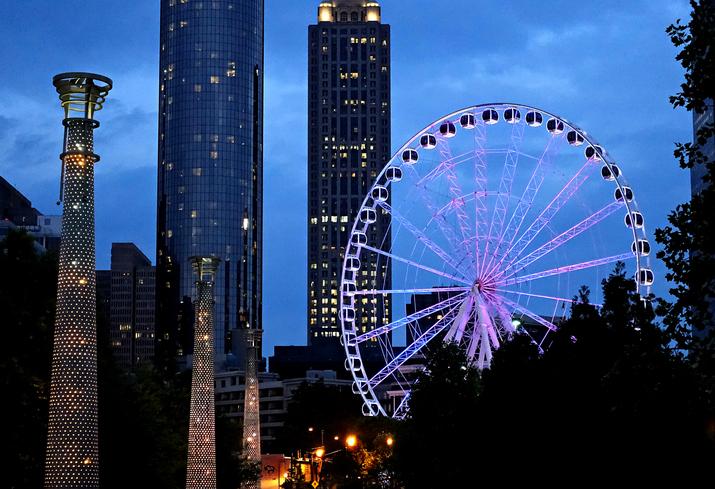 Centennial Park in Atlanta, Georgia