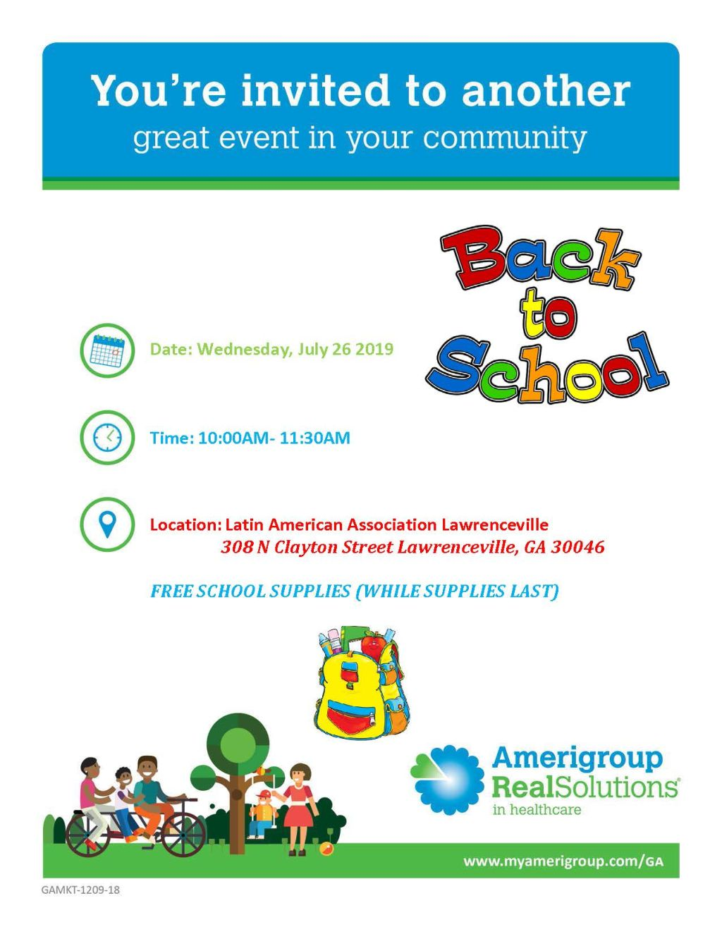 Amerigroup: Back to School Event