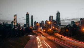 Atlanta Skyline at Sunset