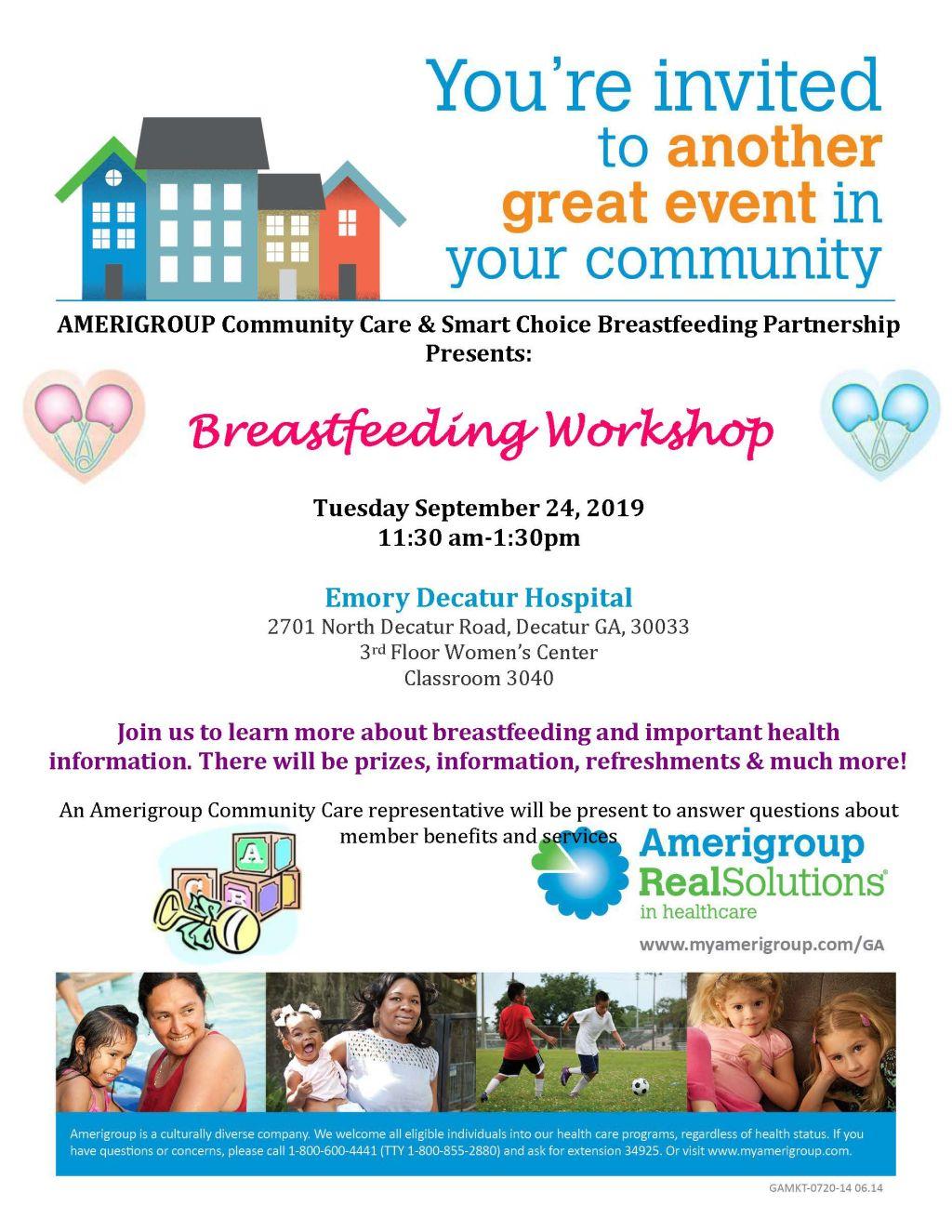 Amerigroup Community Care Presents: Breastfeeding Workshop