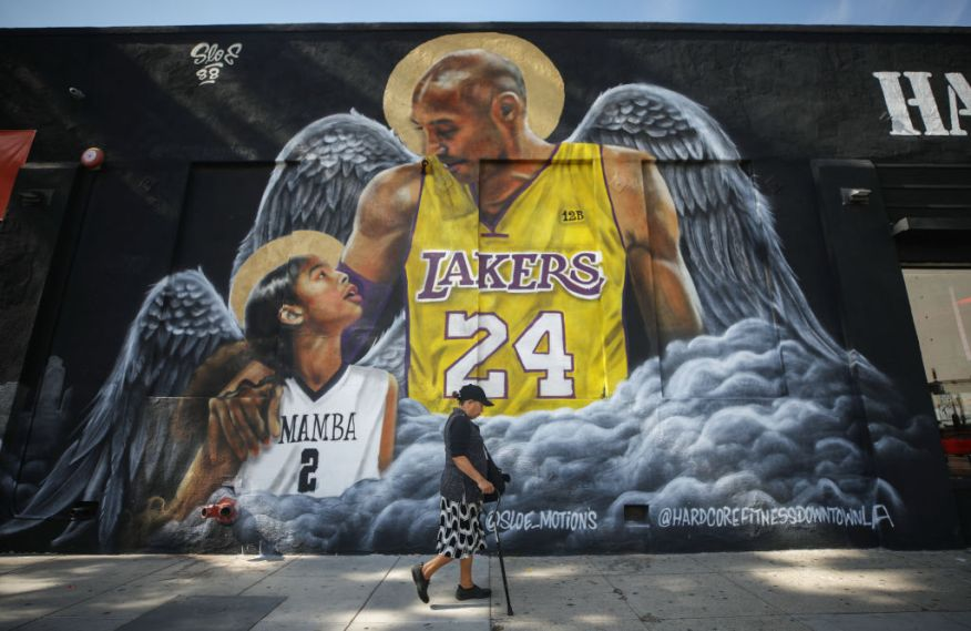 Los Angeles Lakers Legend Kobe Bryant Memorialized Across L.A. In Murals