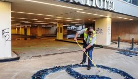 Downtown Atlanta Starts The Cleanup Process