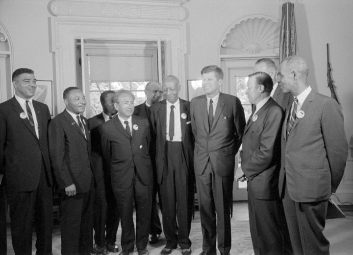 March Leaders With JFK In Oval Office
