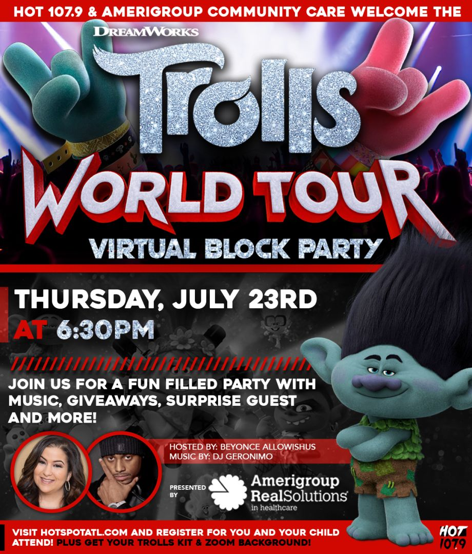 Trolls World Tour Virtual Party