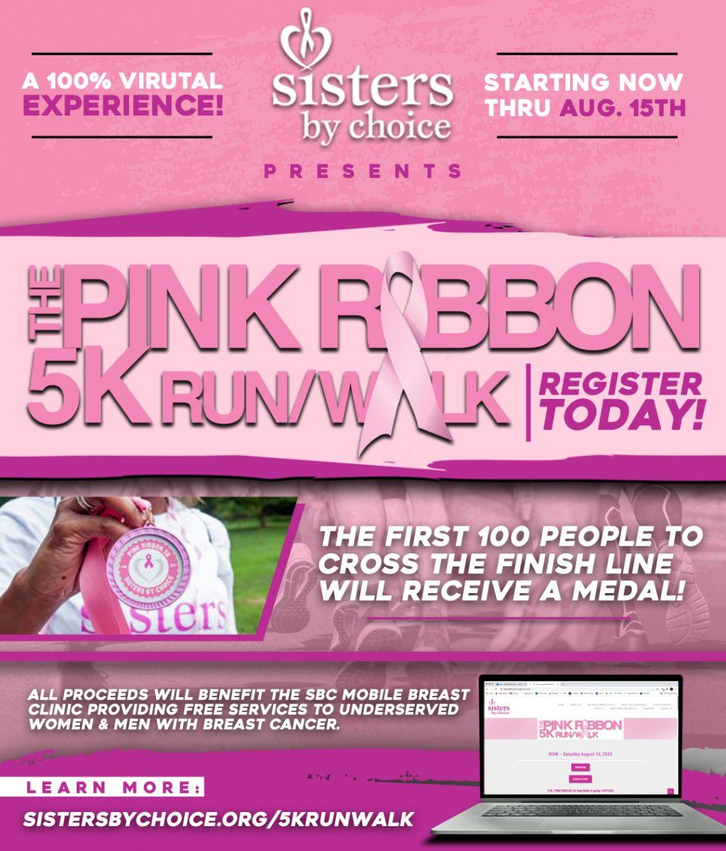 Sisters By Choice   The Pink Ribbon 5K Run/Walk