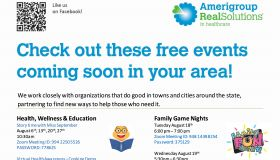 Amerigroup   Our August Events