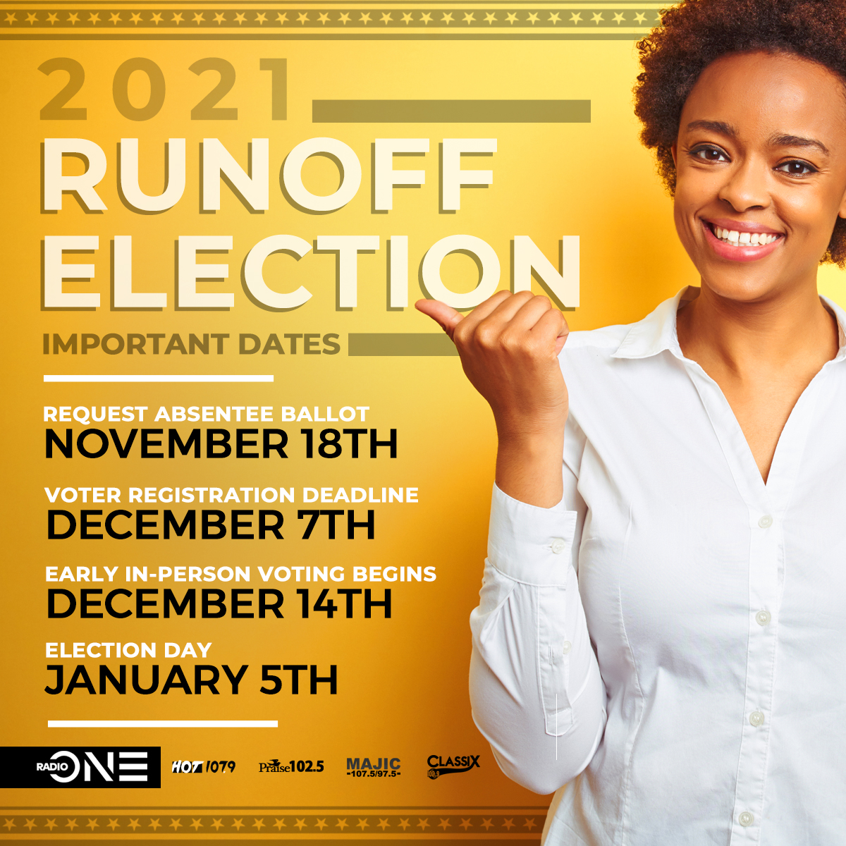 Georgia Runoff election dates 2020